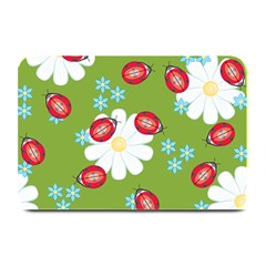 Insect Flower Floral Animals Star Green Red Sunflower Plate Mats