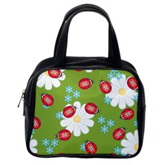Insect Flower Floral Animals Star Green Red Sunflower Classic Handbags (One Side)