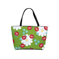 Insect Flower Floral Animals Star Green Red Sunflower Shoulder Handbags