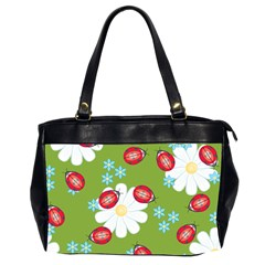 Insect Flower Floral Animals Star Green Red Sunflower Office Handbags (2 Sides)