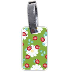Insect Flower Floral Animals Star Green Red Sunflower Luggage Tags (Two Sides)