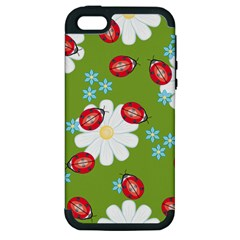 Insect Flower Floral Animals Star Green Red Sunflower Apple iPhone 5 Hardshell Case (PC+Silicone)