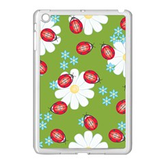 Insect Flower Floral Animals Star Green Red Sunflower Apple iPad Mini Case (White)