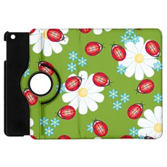 Insect Flower Floral Animals Star Green Red Sunflower Apple iPad Mini Flip 360 Case
