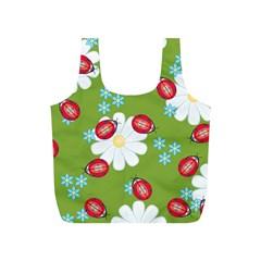 Insect Flower Floral Animals Star Green Red Sunflower Full Print Recycle Bags (S)