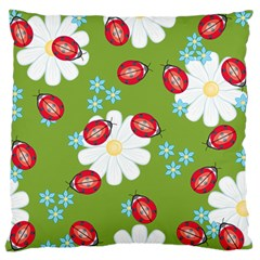 Insect Flower Floral Animals Star Green Red Sunflower Standard Flano Cushion Case (Two Sides)