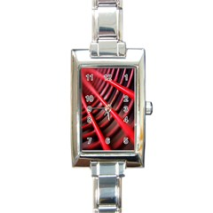 Abstract Of A Red Metal Chair Rectangle Italian Charm Watch