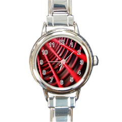 Abstract Of A Red Metal Chair Round Italian Charm Watch