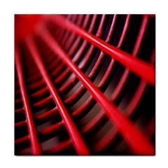 Abstract Of A Red Metal Chair Tile Coasters