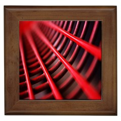 Abstract Of A Red Metal Chair Framed Tiles