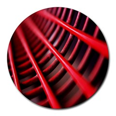 Abstract Of A Red Metal Chair Round Mousepads