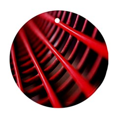 Abstract Of A Red Metal Chair Ornament (Round)