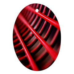 Abstract Of A Red Metal Chair Ornament (oval)