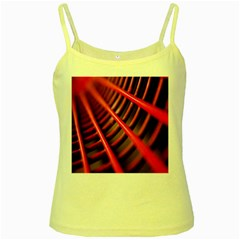 Abstract Of A Red Metal Chair Yellow Spaghetti Tank
