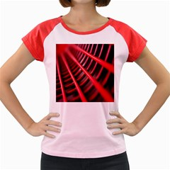 Abstract Of A Red Metal Chair Women s Cap Sleeve T Shirt
