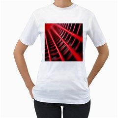 Abstract Of A Red Metal Chair Women s T Shirt (white) (two Sided)