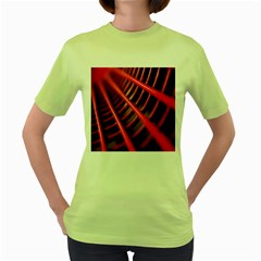 Abstract Of A Red Metal Chair Women s Green T Shirt