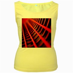 Abstract Of A Red Metal Chair Women s Yellow Tank Top