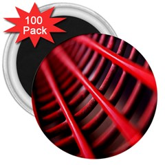 Abstract Of A Red Metal Chair 3  Magnets (100 Pack)