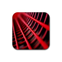 Abstract Of A Red Metal Chair Rubber Coaster (square)