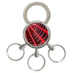 Abstract Of A Red Metal Chair 3 Ring Key Chains