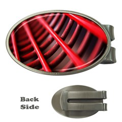 Abstract Of A Red Metal Chair Money Clips (oval)
