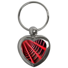 Abstract Of A Red Metal Chair Key Chains (Heart)