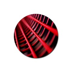 Abstract Of A Red Metal Chair Rubber Round Coaster (4 pack)