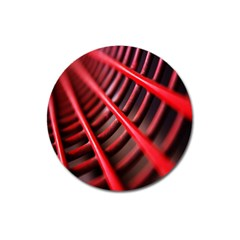 Abstract Of A Red Metal Chair Magnet 3  (round)