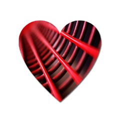 Abstract Of A Red Metal Chair Heart Magnet