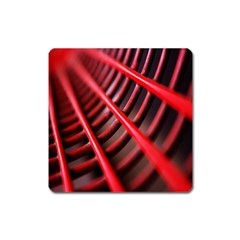 Abstract Of A Red Metal Chair Square Magnet