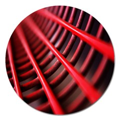 Abstract Of A Red Metal Chair Magnet 5  (Round)