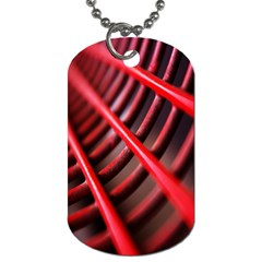 Abstract Of A Red Metal Chair Dog Tag (one Side)