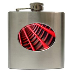 Abstract Of A Red Metal Chair Hip Flask (6 Oz)