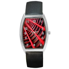 Abstract Of A Red Metal Chair Barrel Style Metal Watch