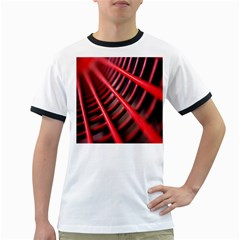 Abstract Of A Red Metal Chair Ringer T Shirts
