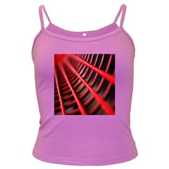 Abstract Of A Red Metal Chair Dark Spaghetti Tank