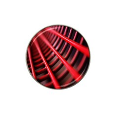 Abstract Of A Red Metal Chair Hat Clip Ball Marker (4 Pack)