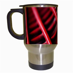 Abstract Of A Red Metal Chair Travel Mugs (white)