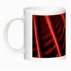 Abstract Of A Red Metal Chair Night Luminous Mugs