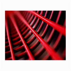 Abstract Of A Red Metal Chair Small Glasses Cloth