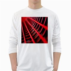 Abstract Of A Red Metal Chair White Long Sleeve T-Shirts