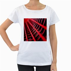 Abstract Of A Red Metal Chair Women s Loose-Fit T-Shirt (White)