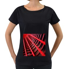 Abstract Of A Red Metal Chair Women s Loose Fit T Shirt (black)