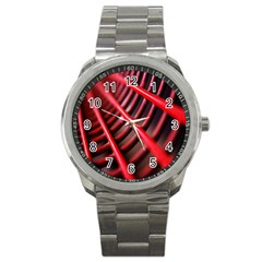 Abstract Of A Red Metal Chair Sport Metal Watch