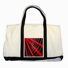 Abstract Of A Red Metal Chair Two Tone Tote Bag