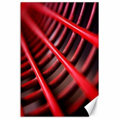 Abstract Of A Red Metal Chair Canvas 12  x 18