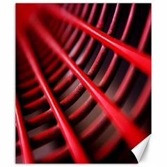Abstract Of A Red Metal Chair Canvas 20  x 24