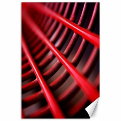 Abstract Of A Red Metal Chair Canvas 24  x 36