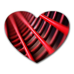 Abstract Of A Red Metal Chair Heart Mousepads